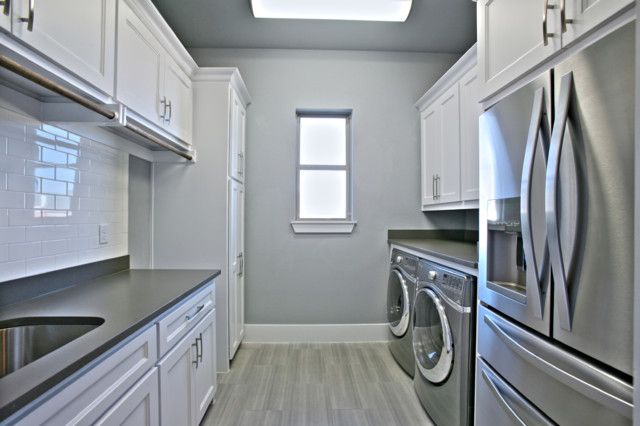 Orleans transitional-laundry-room