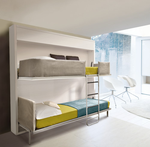 Pull-out beds in a living room