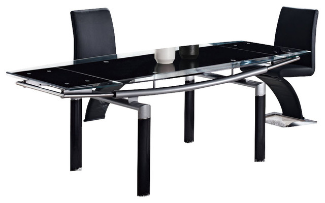 black glass dining table with black legs traditional dining tables