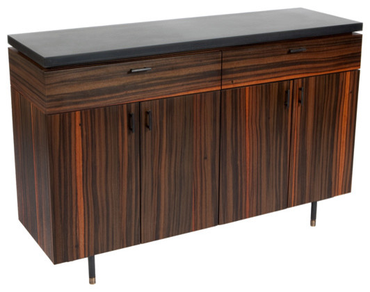 Australian Walnut Bar Cabinet - Modern - Wine And Bar Cabinets - new york - by Wud Furniture Design