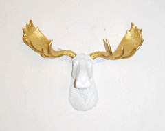 The Glitz Resin Moose Head by White Faux Taxidermy eclectic artwork