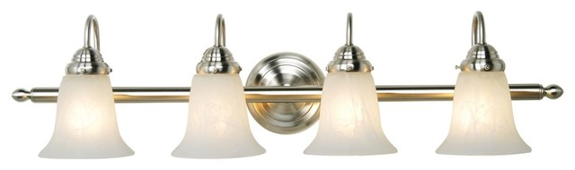 """Traditional Sussex Collection 33"""" Wide Bathroom Light Fixture traditional-bathroom-vanity-lighting"""