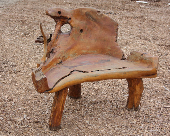 Natural Teak Root Bench from Bali -