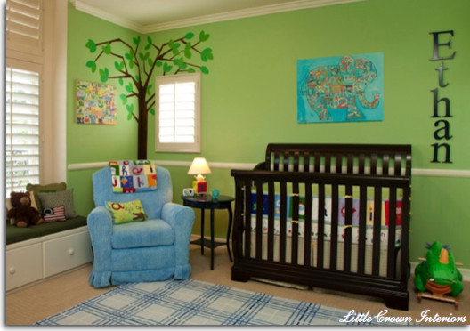 Boy's Green Nursery traditional-kids