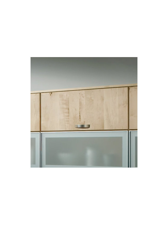 Wall Top-Hinge Cabinets - With their handy vertical lift doors, Wall Top-Hinge Cabinets on either side of the range are easily accessible from any point, and require no pivoting turns that could upset stacks of dishes.