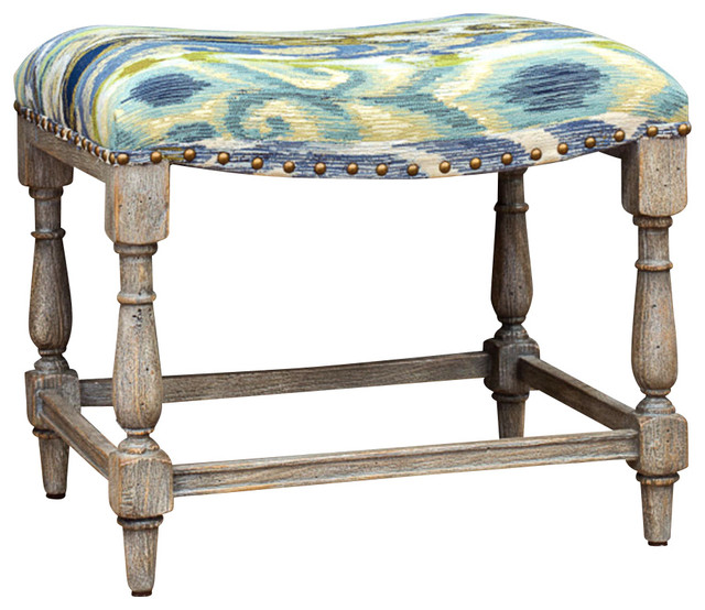 minkah bench rustic upholstered benches by bliss