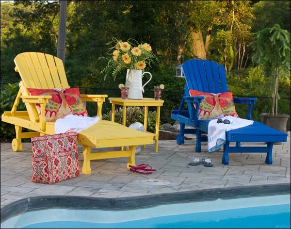 Poly Lumber 3 Pc. Chaise Set contemporary-outdoor-chaise-lounges