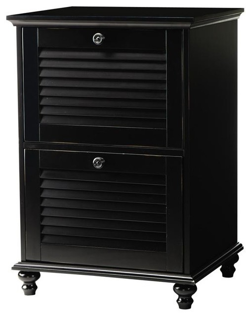 Shutter Two-Drawer File Cabinet - Traditional - Filing Cabinets - by Home Decorators Collection