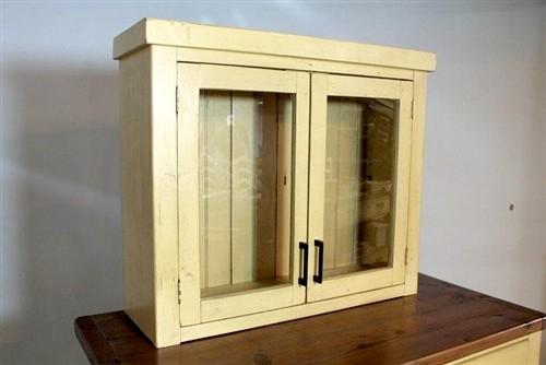 Wall Mounted Cabinet From Reclaimed Pine Farmhouse
