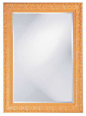 Melissa Mirror, Glossy Orange traditional mirrors