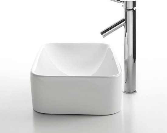 "Kraus C-KCV-122-1002 White Rectangular Ceramic Sink and Sheven Faucet - APPLY COUPON CODE ""EDHOUZ20"" AT CHECKOUT. JUST OUR WAY OF SAYING THANKS."