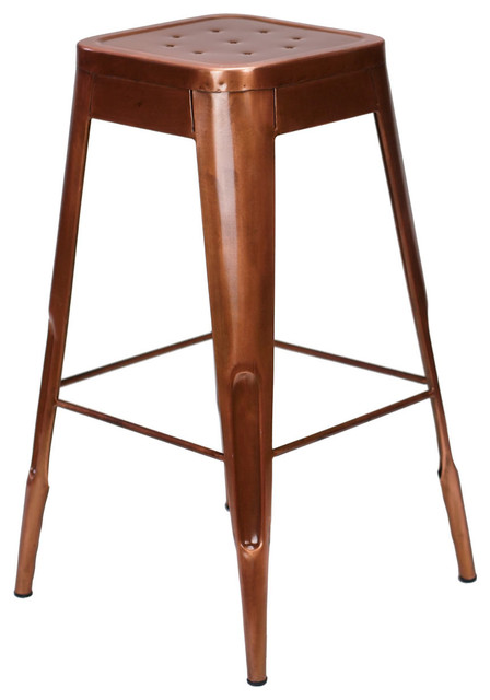 Felix French Cafe Style Bar Stool Metallic Copper