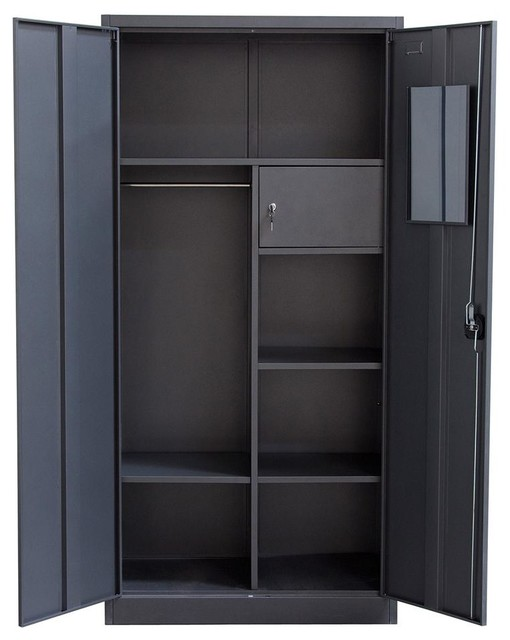 2 Door Metal Closet - Contemporary - Dressers - by ShopLadder
