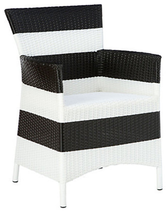 Solid Stripes Armchair contemporary-outdoor-lounge-chairs