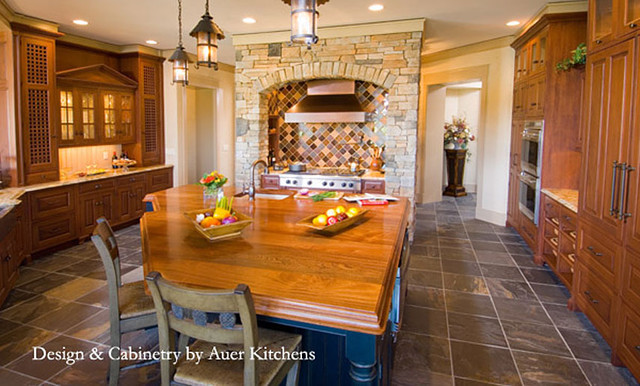 Mahogany Wood Counter by Grothouse kitchen-countertops