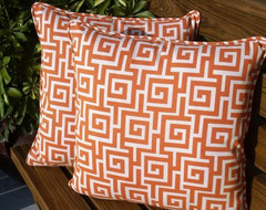 Greek Key Pillows by Anita Scasa traditional pillows