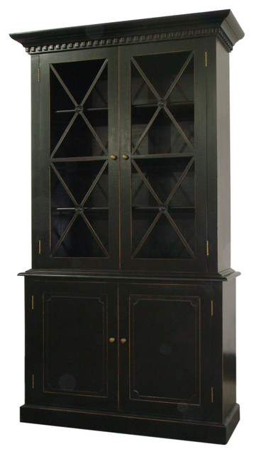 Humprey Cabinet in Distressed Black - Traditional - Pantry Cabinets ...