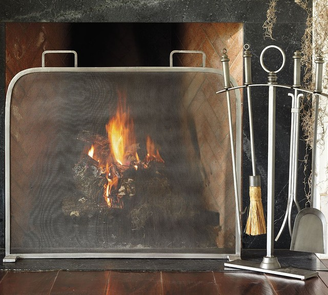 contemporary fireplace accessories by Pottery Barn