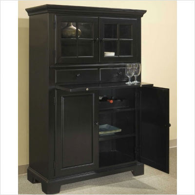 broyhill cuisine storage cabinet in ebony traditional