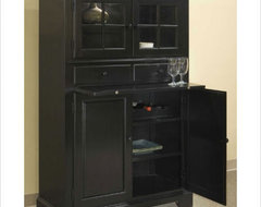 Broyhill Cuisine Storage Cabinet in Ebony traditional-pantry-cabinets