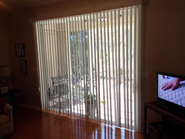 Vertical blinds traditional living room orlando by for Living room vertical blinds