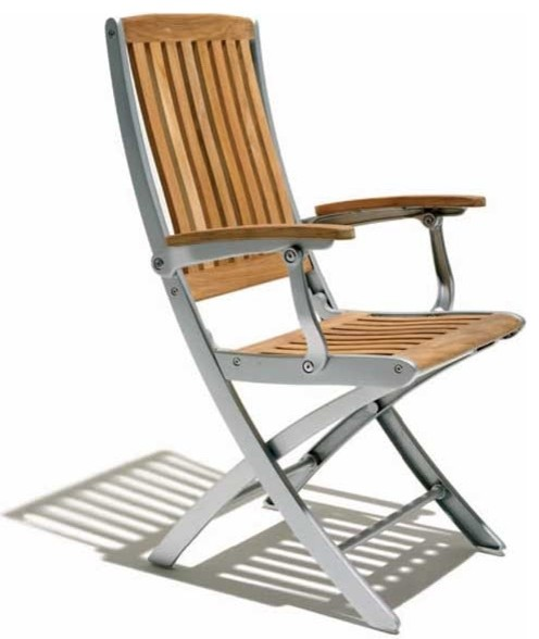 Luna Folding Chair By Design Kollection Modern Outdoor