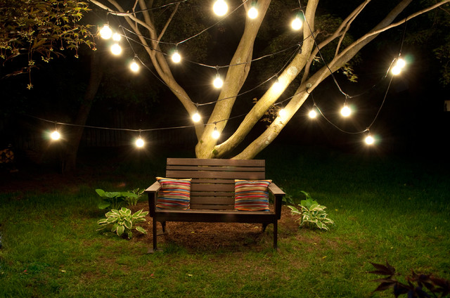 Outdoor String Light Eclectic Patio by Bulbrite