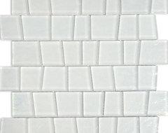 Neve Winterscape Trapezoid Glass Tile contemporary-tile