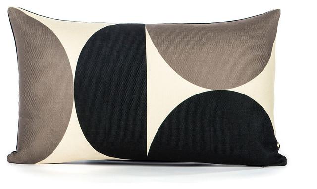 A-Pex Cream/Black Oblong Pillow - Modern - Decorative Pillows - by LaCozi