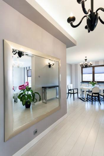 Silver Framed Mirror Hallway Entrance Modern Austin