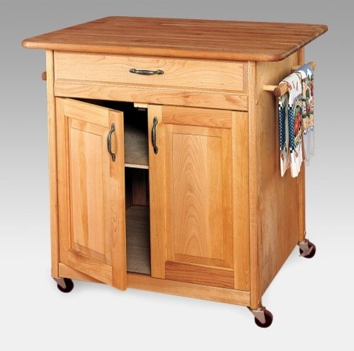 Brooksville Kitchen Cart - traditional - kitchen islands and