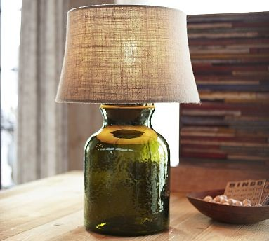 Clift Glass Small Cylinder Table Lamp Base Green