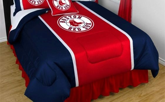 MLB Boston Red Sox Sidelines Comforter And Sheet Set Combo