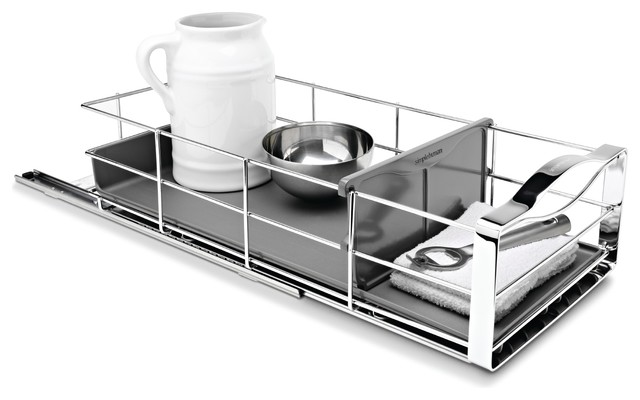 9 Inch Pull-Out Cabinet Organizer modern-cabinet-and-drawer-organizers