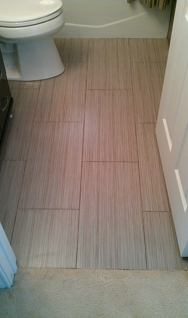 Bathroom Large Panel Wall And Floor Tile Contemporary Austin. Large Floor Tiles