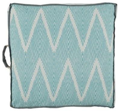 Bali Floor Pillow- Peacock - Clayton Gray Home floor-pillows-and-poufs