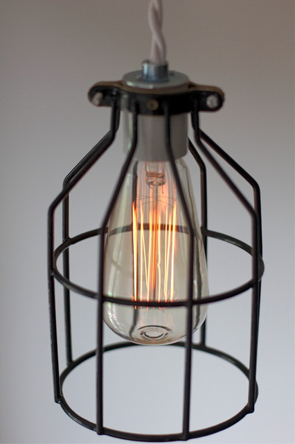 Industrial modern cage light fixture industrial lighting chicago