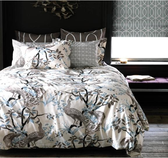 DwellStudio Peacock Dove Duvet Set Asian Covers
