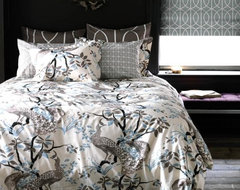 DwellStudio  Peacock Dove Duvet Set asian-duvet-covers