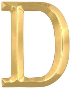 Letter D Brass Monogram Door Knocker Contemporary Home