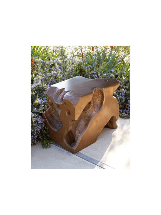 "Horchow - Freeform Stool - A unique take on seating, this freeform stool provides functional use in an aesthetically pleasing way. Made of resin. Bronze finish. Outdoor safe in a covered area. 15""W x 23""D x 17""T. Imported. Boxed weight, approximately 43 lbs. Please note t..."