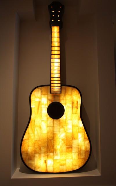 Lit Onyx Guitar eclectic-artwork