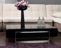 Drone Rectangular Coffee Table - Black modern-coffee-tables