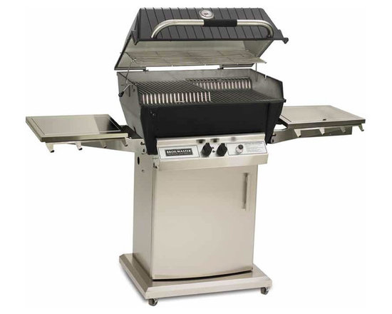 Broilmaster Grill model P3SX - Broilmaster premium gas grills are a tradition when it come to backyard cooking. This is the top of the line P3SX model shown with a portable cart with storage door, side shelf and side burner. Available in propane or natural gas.
