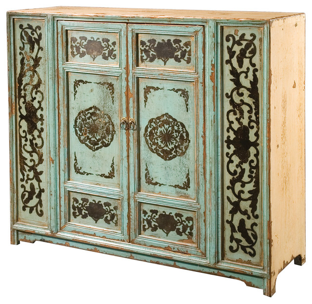 Painted Cabinet 2 Door Asian Buffets And Sideboards