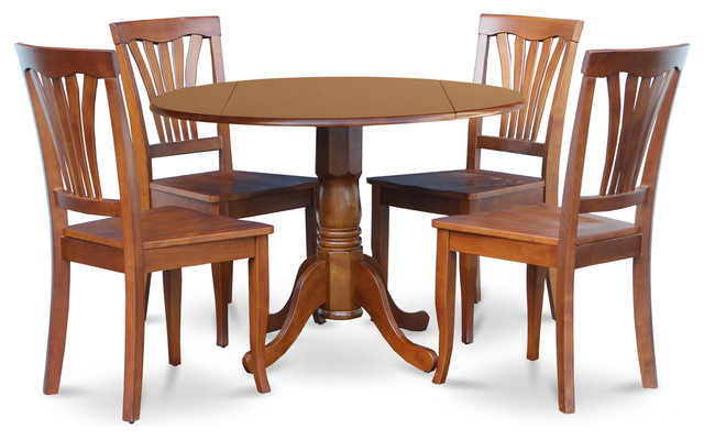 5 Piece Kitchen Nook Dining Set-Breakfast Nook Table And 4