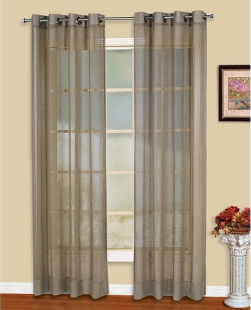 United Curtain Dakota Grommet Curtain Panel - Modern - Curtains - by ...