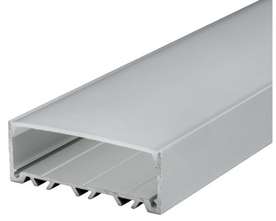 EnvironmentalLights - CS103 LED Channel System - The CS103 LED Channel System includes our high quality aluminum channel and compatible frosted diffuser. Suitable for custom high brightness fixtures. Creating a professional LED strip light installation has never been easier. Choose from a wide selection of over 80 complete systems!Comes in 98 inch segments and can be cut to any length. 44.8 mm wide by 17.3 mm high. Includes aluminum channel and diffuser. Perfect for mounting LED Strip Light up to 28 mm in width. The frosted diffuser protects LED strip light from the elements and softens lighting effects. Compatible end caps are available (sold separately). Aluminum channel is not returnable because the packaging and freight costs are typically higher than the product cost.