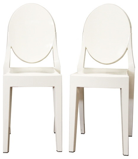 Baxton Studio Ivory Acrylic Ghost Chair modern-dining-chairs