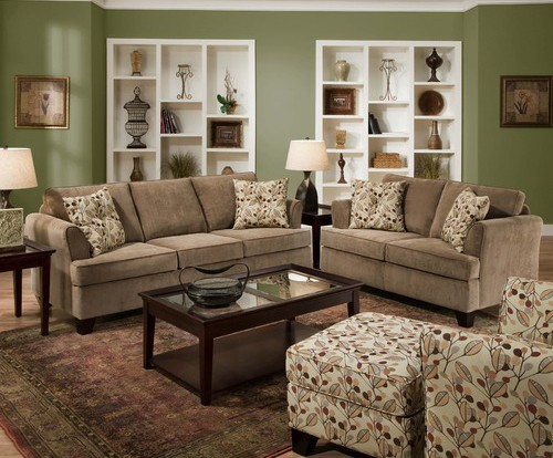 Simmons upholstery santa rosa 4 piece full sleeper sofa for Tapestry sofa living room furniture